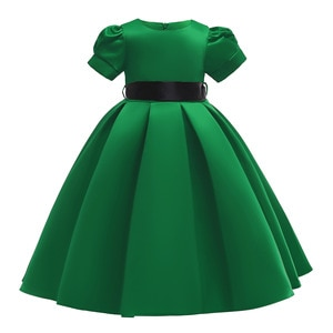Girls princess dress Solid  Prom dresses girls dresses Party dress for kids girl  Bow  Kids dresses for girls  Girls clothes