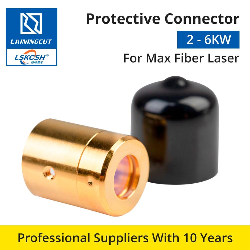 LSKCSH Max Fiber Laser Source 0-6KW salida conector protector grupo de lentes para Max Fiber Laser Source