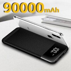 90000mah power bank 10000 usb lcd powerbank portátil bateria externa carregador do telefone móvel poverbank para xiaomi