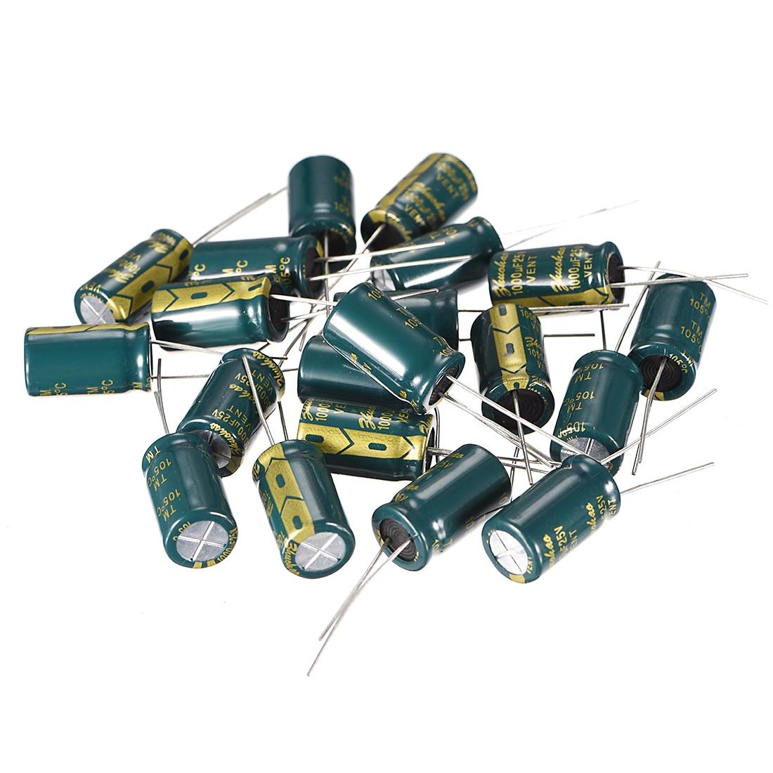 Uxcell 25V 35V 400V 2,2 10 22 100 220 470 100 0uF 36 Elektrolytkondensator für DIY Projekt Löten 100 0uF 10x17 20 stücke