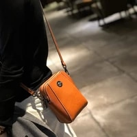 leather mobile bag womens messenger bag cow leather 2021 new shoulder bag oil wax skin small square bag purses crossbody