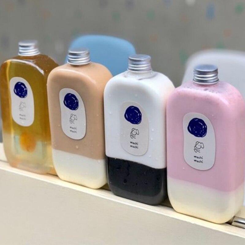 10 шт./лот пластиковые бутылки для напитков, контейнеры для хранения, бутылки для питьевой воды, пластиковая бутылка для воды с крышками, Прям...