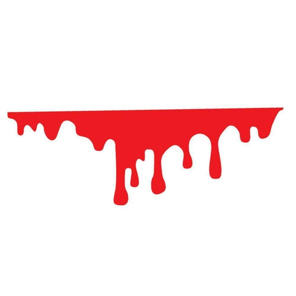 1 unidad, pegatina para coche, faro delantero para coche, luz trasera, decoración sangrante, pegatina de vinilo de sangre roja