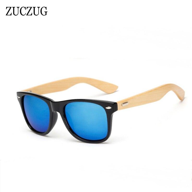 ZUCZUG Vintage Bamboo Wooden Leg Sunglasses Men Women Brand Design Bamboo Sun Glasses Ladies Retro Square Driving Goggles UV400