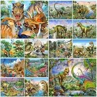 diamond mosaic dinosaur embroidery cartoons animal 5d diy diamond painting tyrannosaurus rhinestone pictures decoration for home