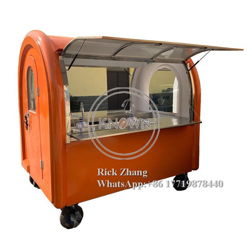 KN-220E carrinhos de mão móveis com 4 rodas smll para cachorro-quente e sorvete para usar