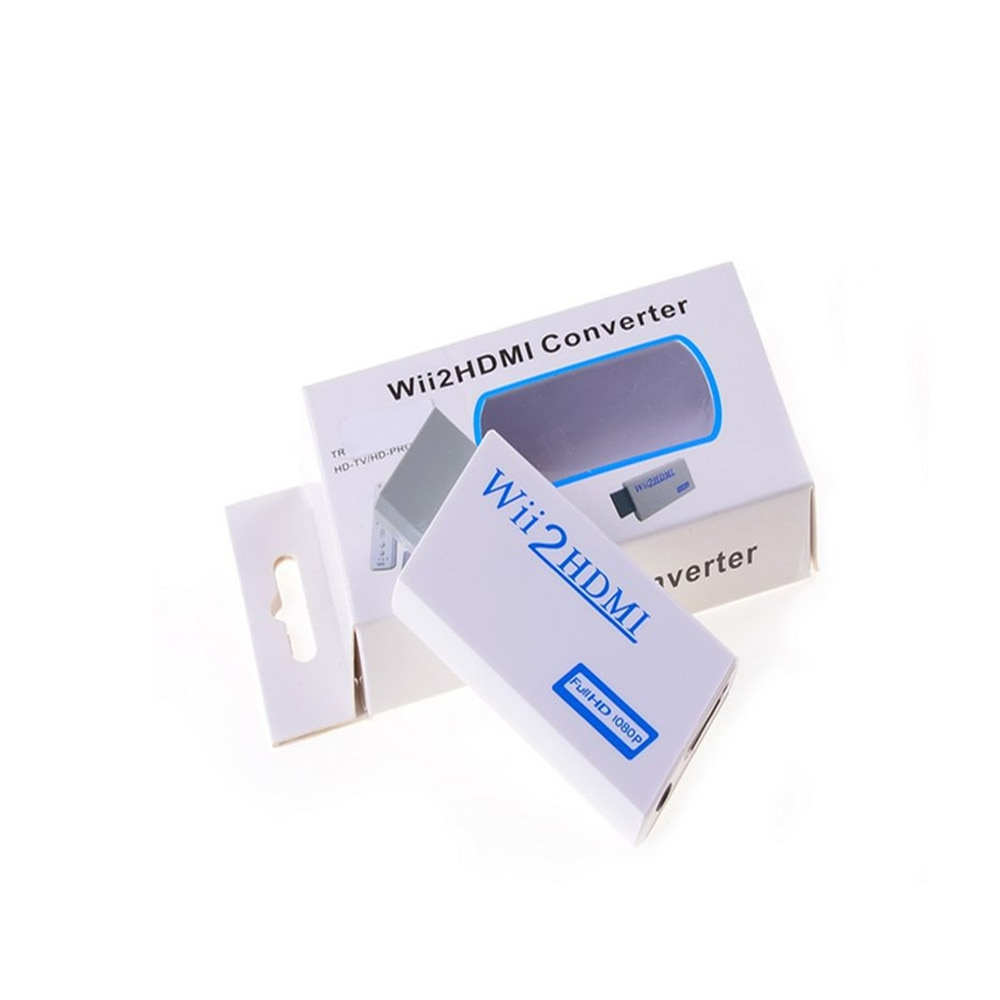 200PCS Full HD 1080P W-ii to H-D-M-I Converter Adapter Wii2HDMI Converter 3.5mm Audio for PC HDTV Monitor Display enlarge