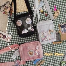 Japanese-Style Anime Merch Lolita Kawaii Girl Women Itabag Backpack Handbag Plastic Bags Badge Cute School Transparent Mini Bag