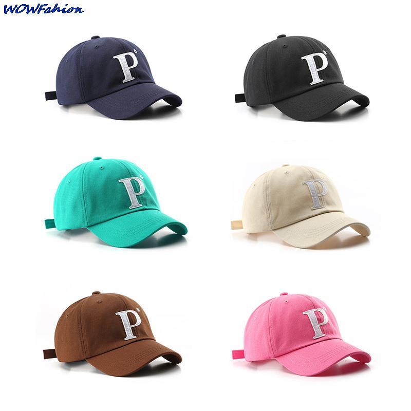 Модные хлопковые кепки унисекс с надписью P, корейские дизайнерские шапки, бейсболка, Уличная Повседневная Солнцезащитная шапка