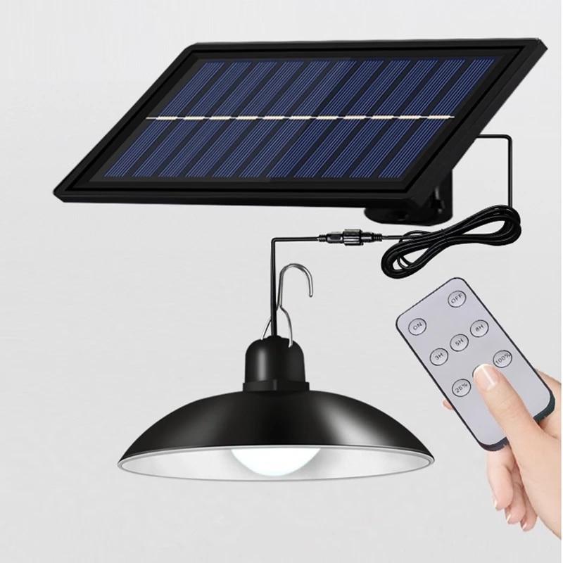 Double Head Solar Pendant Light IP65 Waterproof Outdoor Indoor Solar Lamp with Cable Suitable for Courtyard, Garden deco navidad