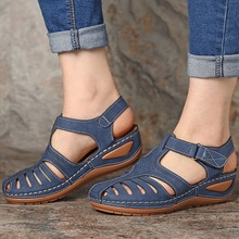 Women Sandals Soft Bottom Women Heels Sandals Gladiator Summer Shoes Women Plus Size Wedges Shoes Fe