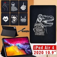 ipad air 4 case leather tablet adjustable stand cover for apple ipad air 4 10 9 inch 2020 creative personality protective shell