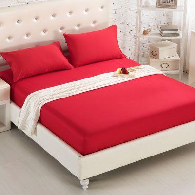Funda de cama Multi-Especificación de Color sólido sábana de cama de Hotel cubierta de protección/funda de almohada a juego