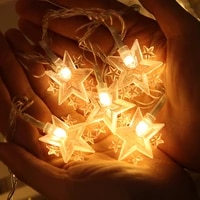 1 6m 10 led star string lights twinkle star garlands fairy lights for wedding party christmas tree new year garden decoration