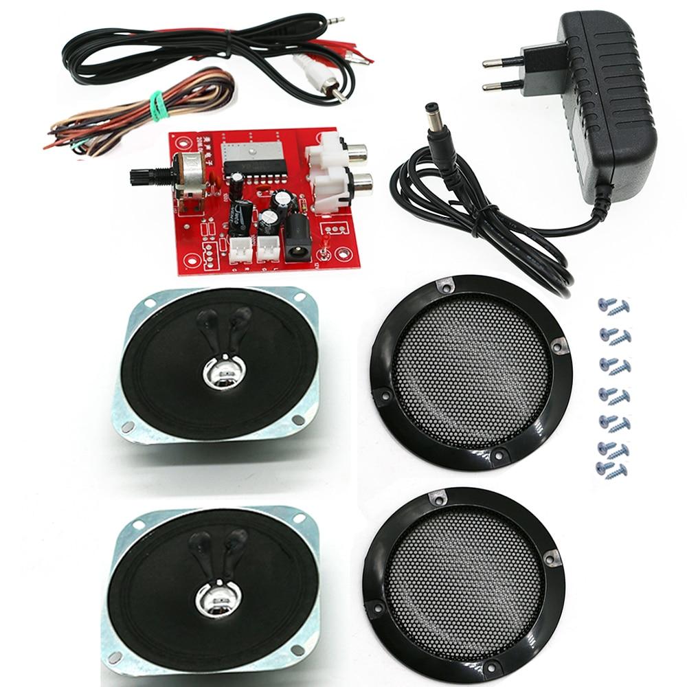 HIVI ستيريو مكبر كهربائي مجلس 12 فولت محول 4 بوصة رئيس مصبغة المنزل بسيط فتحة الصوت لعبة خزانة ممر عدة لتقوم بها بنفسك