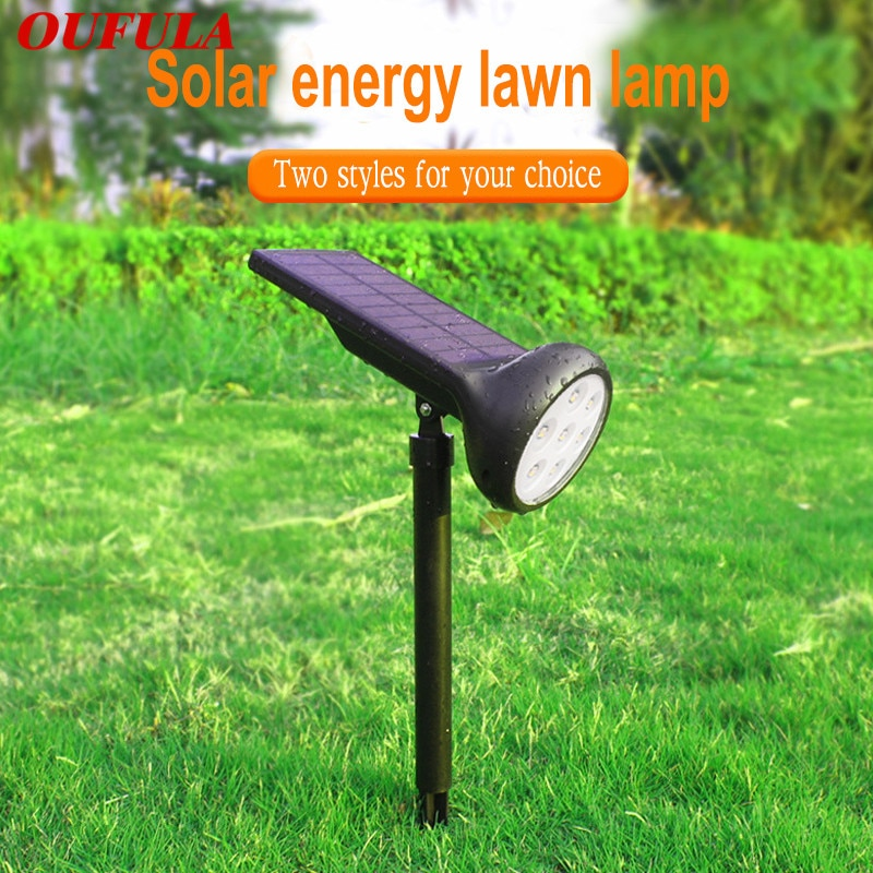 Solar Powered Lawn Lamp Garden Lights Outdoor IP55  Waterproof 7 Colors Change Lighting  Led Path Ground Lights Decorations