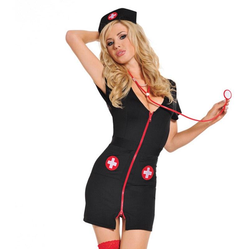 Picardías de enfermera porno para mujer, disfraz Sexy de Hospital, lencería Sexy erótico, uniforme Sexy para enfermera, juego de rol de Halloween