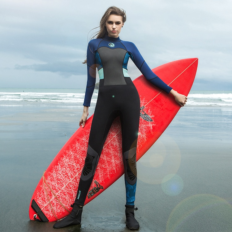 Traje de buceo profesional de 1,5mm para mujer de Hisea, traje de buceo de cuerpo entero, traje de buceo para mantenerse caliente para surf y buceo, traje de buceo transpirable