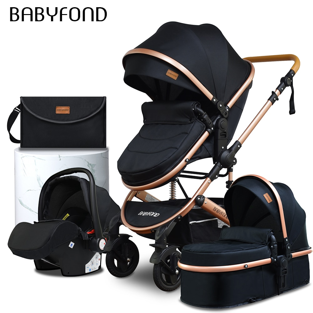 Baby stroller  4 in 1 pram with bags Golden baby brand  portable child Baby carrier  stroller dual-use enlarge