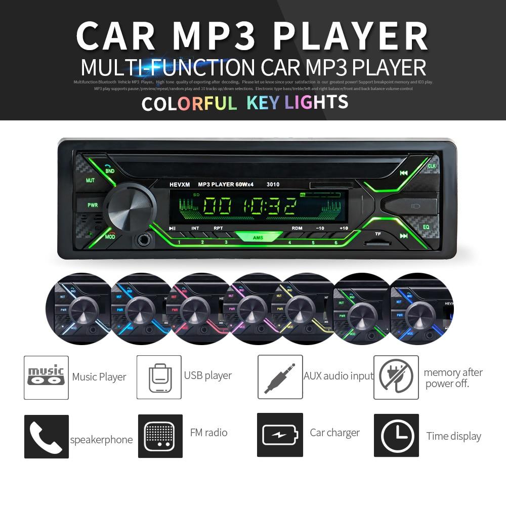 Autoradio et lecteur Bluetooth 12V   autoradio, Bluetooth, téléphone, MP3 FM/USB/1 Din/télécommande, Audio, vente Auto, nouveau