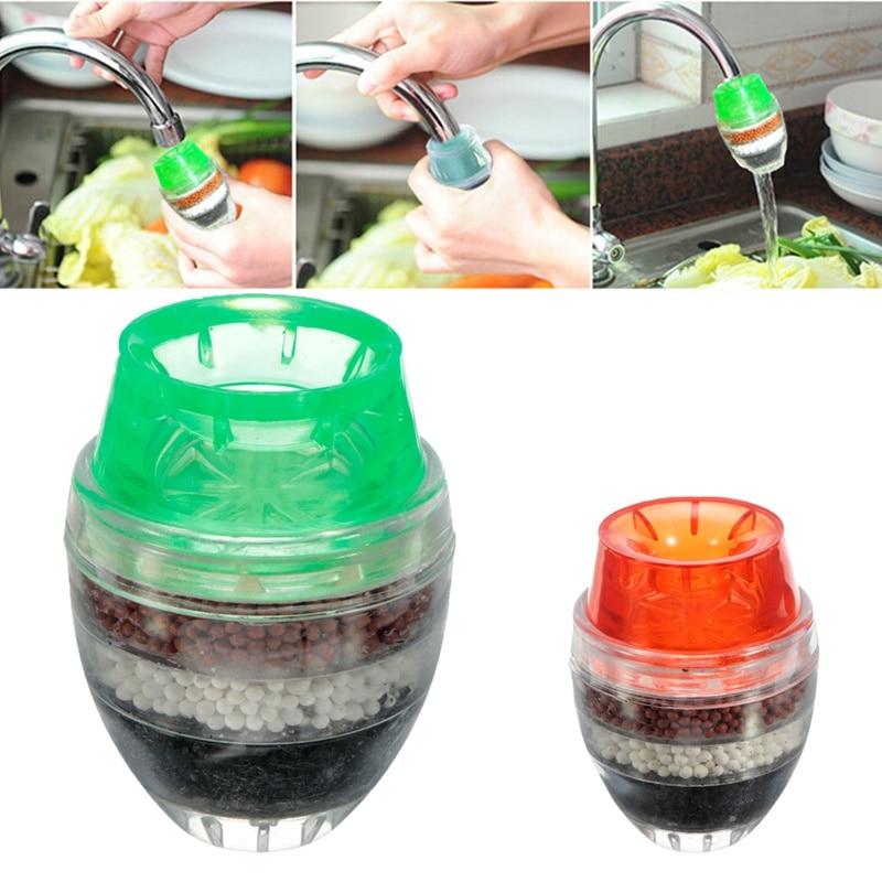 1pc casa cozinha torneira do carbono mini filtro de água limpa purificador filtro filtro filtragem filtro de água carbono
