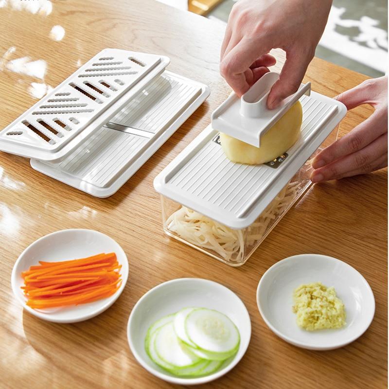 الصين المنزلية متعددة الوظائف الخضروات قطاعة الخضروات تقطيع الطعام مبشرة سهلة غسلها أدوات مطبخ