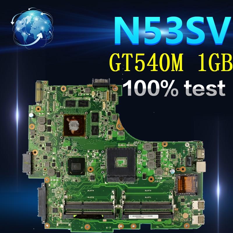 Amazoon N53SV placa base de Computadora Portátil para For Asus N53SN N53SM N53SV N53S N53 prueba placa base original de GT540M 1GB HM65