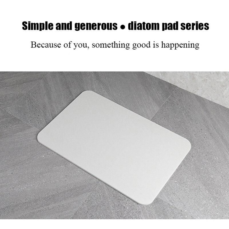 30x40CM Home Bath Diatomite Mat Non-slip Bathroom Carpet Quick-Drying Hard Diatom Mud Washable Rug Kitchen Toilet Floor Decor enlarge