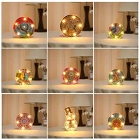 new 5d diy diamond painting led lamp light snowman special shaped mosaic embroidery owl unfinished kit christmas gift