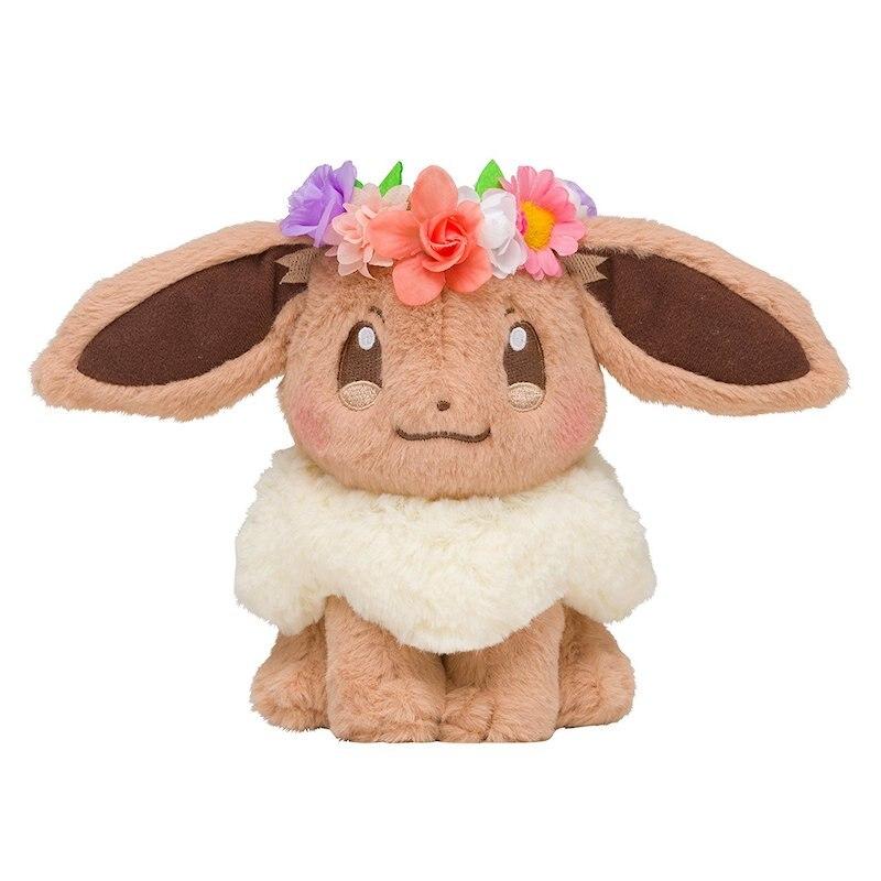 Eevee sentado, juguetes de felpa, animales de peluche suave, regalo, muñecas de felpa para niños, juguetes de regalo para bebé