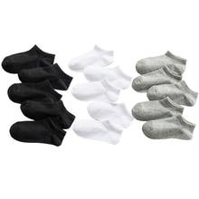 5 Pairs Baby Socks Boys Girls Black White Gray Socks Cotton Soft Newborn Babies Loose Comfortable So