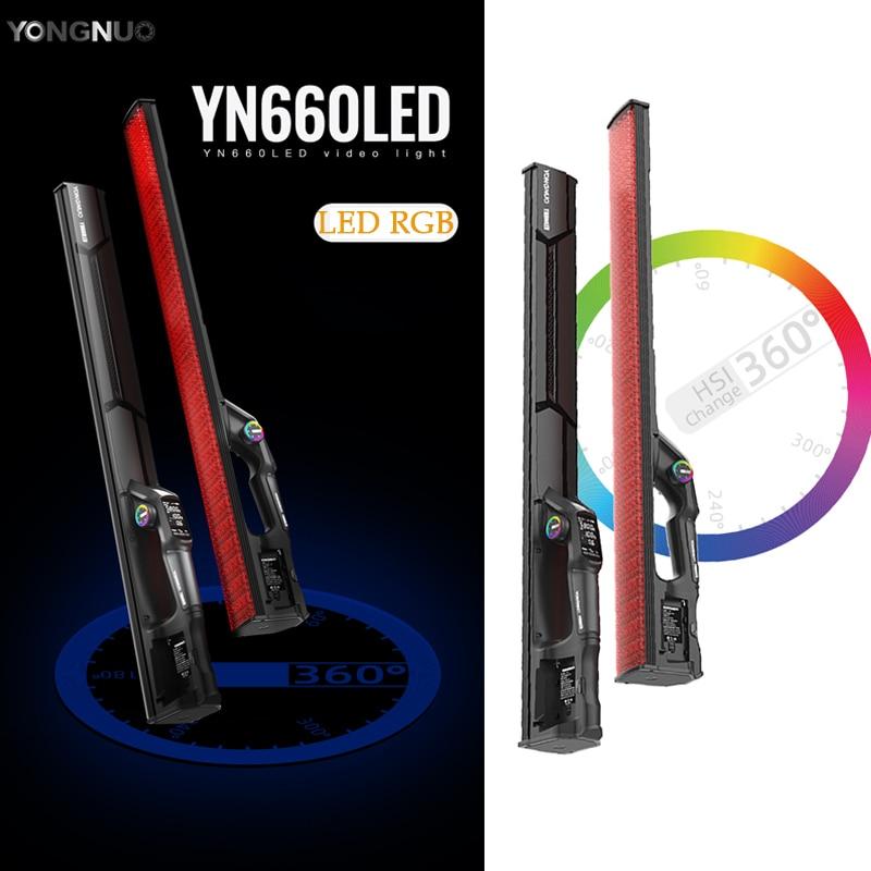 YONGNUO YN660LED يده LED الفيديو الضوئي اللمس ضبط ثنائي كولو 2000-9900k RGB اللون التحكم عن بعد منتج جديد مصباح الإضاءة