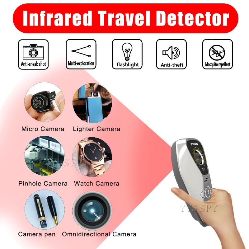 Nuevo X6 Mini Anti espía cámara oculta Detector infrarrojo Anti-ladrón repelente de mosquitos localizador GPS inalámbrico señal escáner de alarma