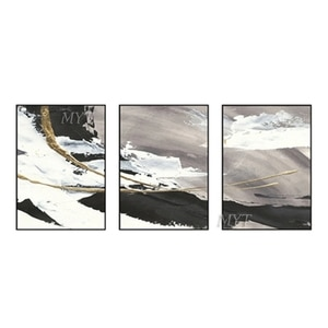 MYT Snow-Covered Landscape Abstract Oil Paintings Modern Wedding Decor Wall Art Home Decoration For Living Room Unframed
