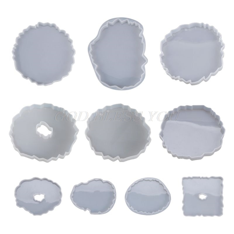 Silicone Crystal Epoxy Resin Mold Irregular Wave Coaster Mat Casting Mould Handmade DIY Crafts Decoration Making Tools