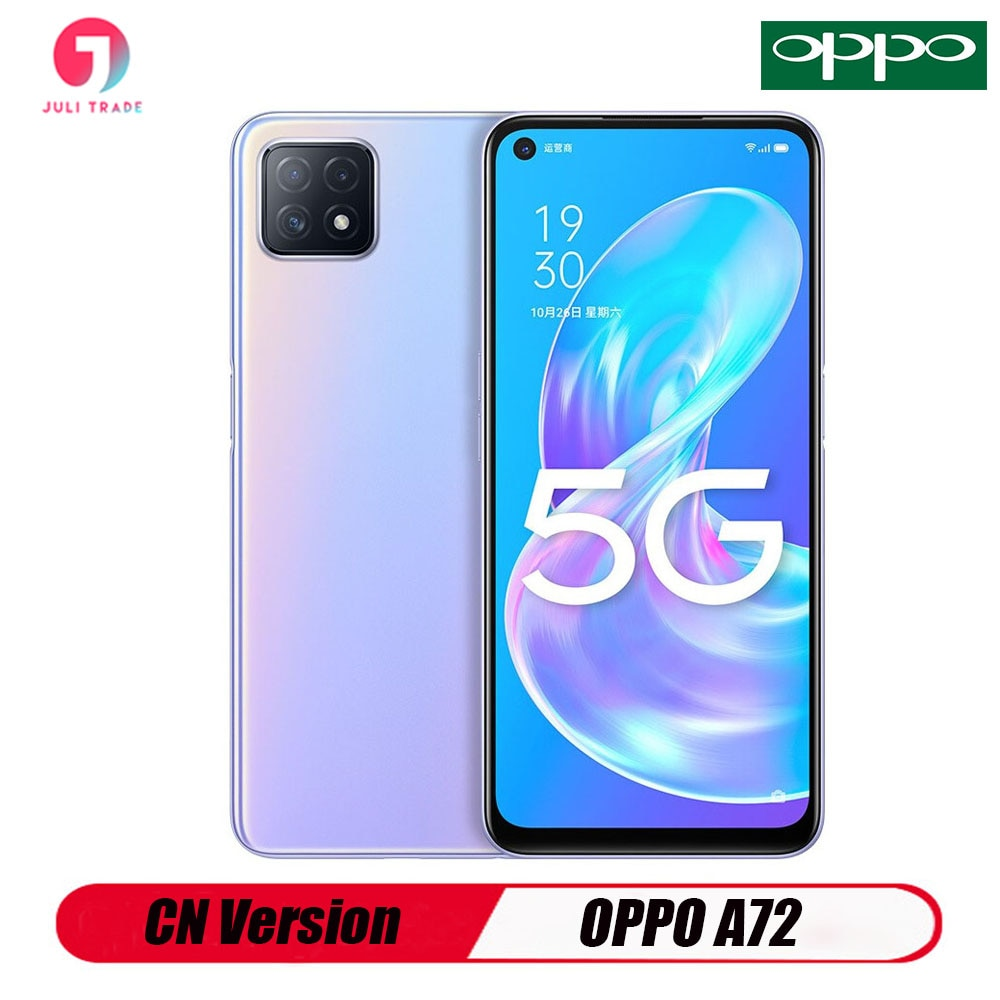 Orginal CN Version Oppo A72 5G Smartphone 6.5 INCH 2400*1080 Fast Charging 18W Snapdragon 720G 16MP Camera 3.5mm Earphone