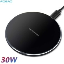 30W Qi Wireless Charger Dock for Samsung S10 S20 Note 10 20 iPhone 12 11 Pro Max XS XR X 8 Wireless