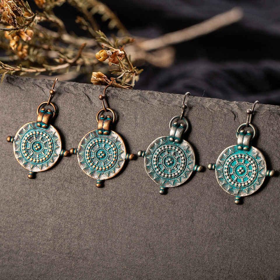 Vintage Round Cute Odd Ethnic Boho Drop Earrings For Women Female Charm Suspension Ear Ornament Jewelry Accessories 2019 Fashion Drop Earrings Aliexpress