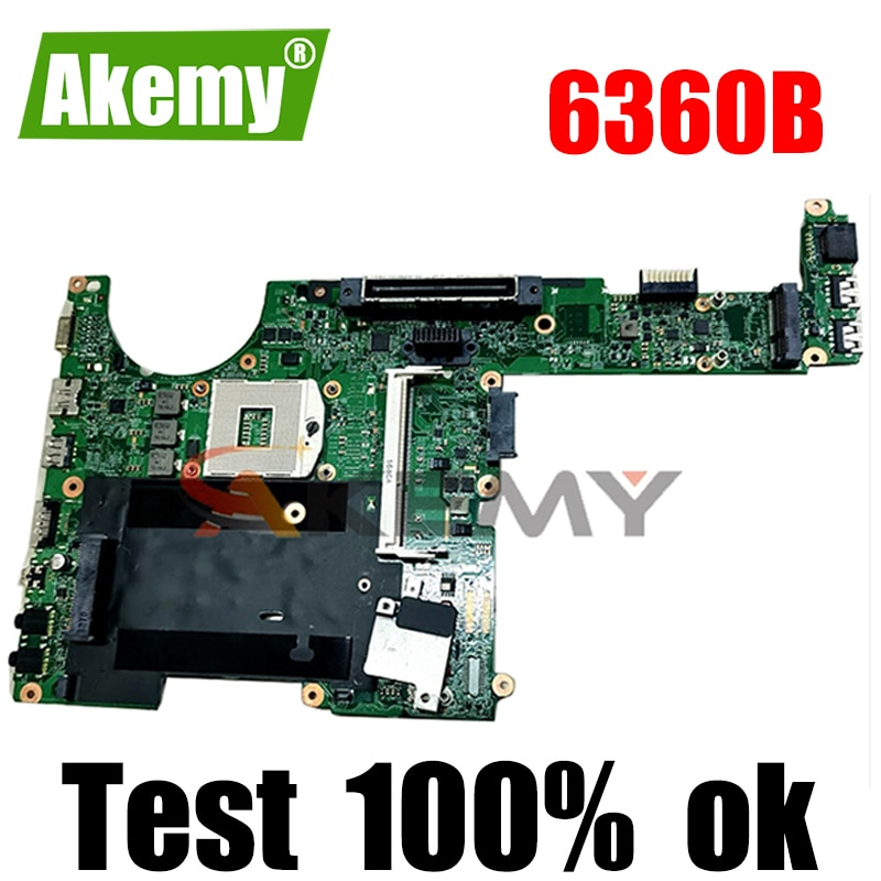 Akemy 641733-001 643216-001 لوحة أم للكمبيوتر المحمول hp probook 6360B 48.4KT01.021 لوحة أم 100% تم اختبارها بالكامل