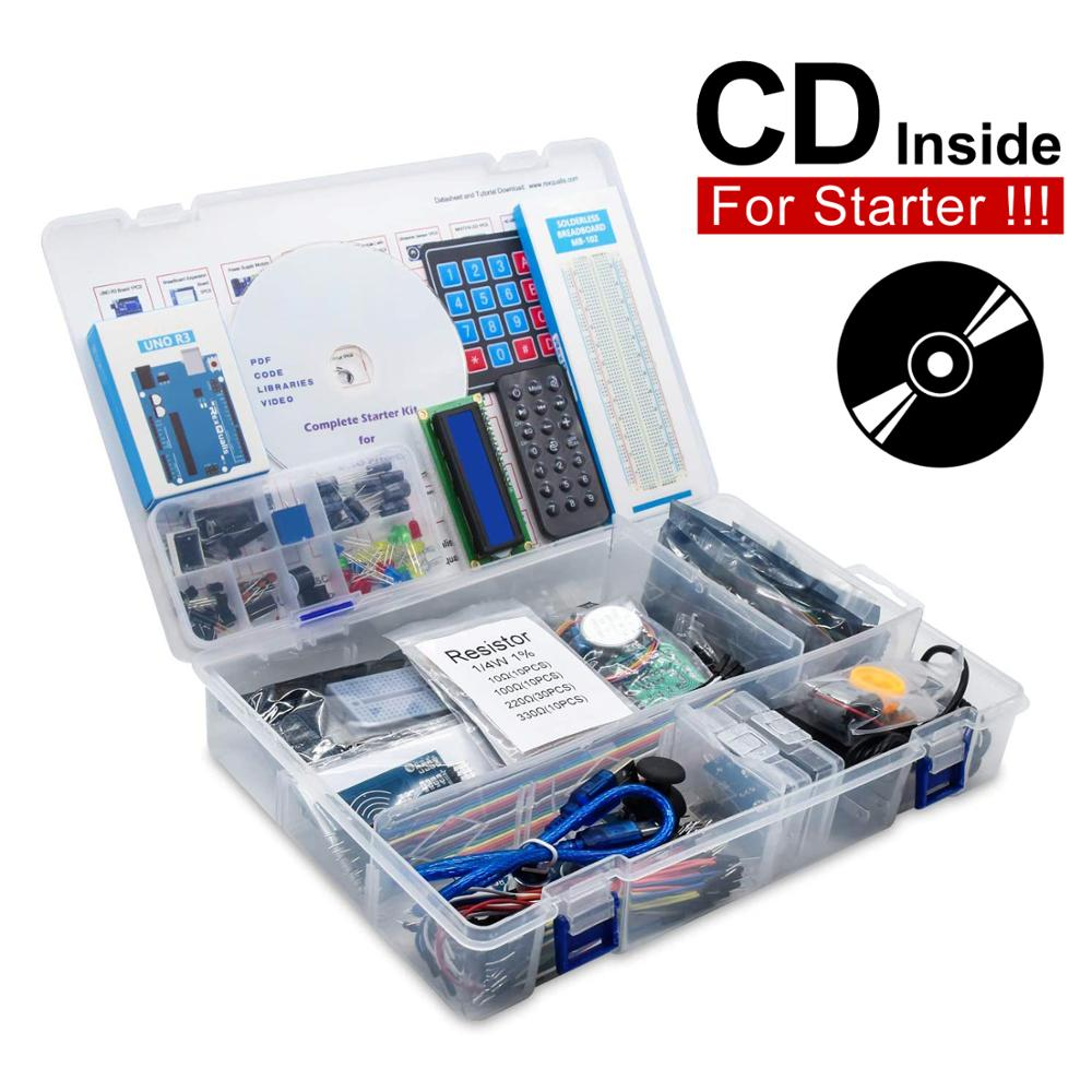 2020 RFID Starter Kit for Arduino UNO R3 Upgraded version Learning Suite Retail Box UNO R3 Starter Kit RFID Sensor For Arduino