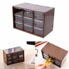 1Pcs Jewelry Storage Box Mini Debris Cabinets Lattice Portable Drawer Sorting ABS+PS 2019