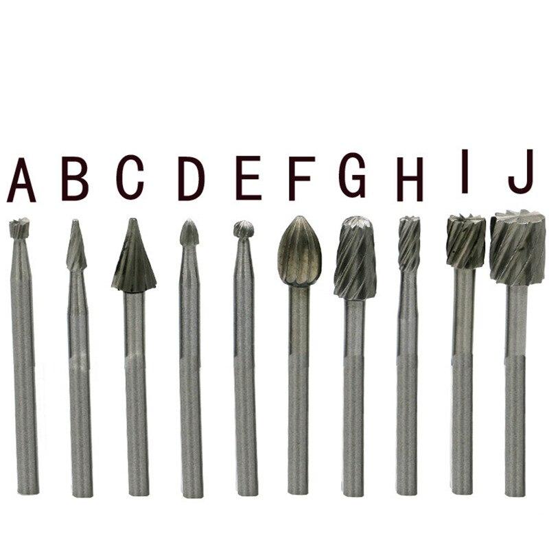 10 pezzi / set HSS titanio per Dremel fresatura rotante fresa file - Utensili abrasivi - Fotografia 5