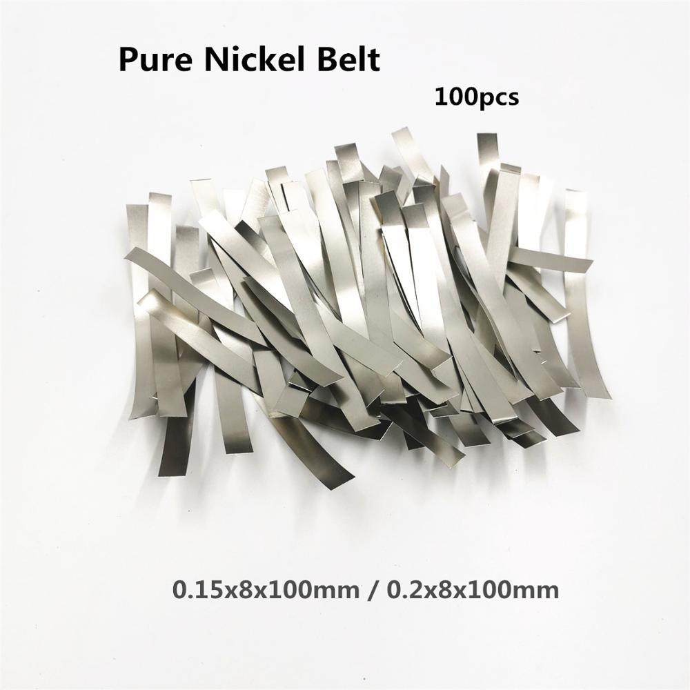 100pcs/lot Quality low resistance 99.96% pure nickel Strip for Spot Welder 18650 Lithium Battery  spot welding machine