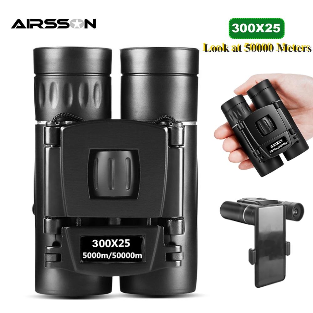 300X25 HD potentes prismáticos de 50000M de largo alcance plegable Mini telescopio...
