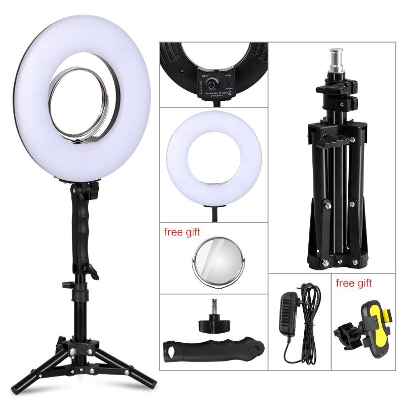 10 дюймов 24W 5500K 120 светодиодный светильник для фотосъемки с регулируемой яркостью для камеры/фото/телефона/студии, кольцевой светильник для фотосъемки, лампа и штатив