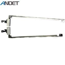 Novo lcd dobradiça para hp elitebook 2530 p notebook lcd screen display dobradiças definir suportes de aço esquerda & direita am03b000a00 am03b000b00