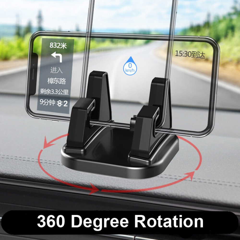360 Degree Rotate Car Cell Phone Holder Dashboard Sticking Universal Stand Mount Bracket For Mobile
