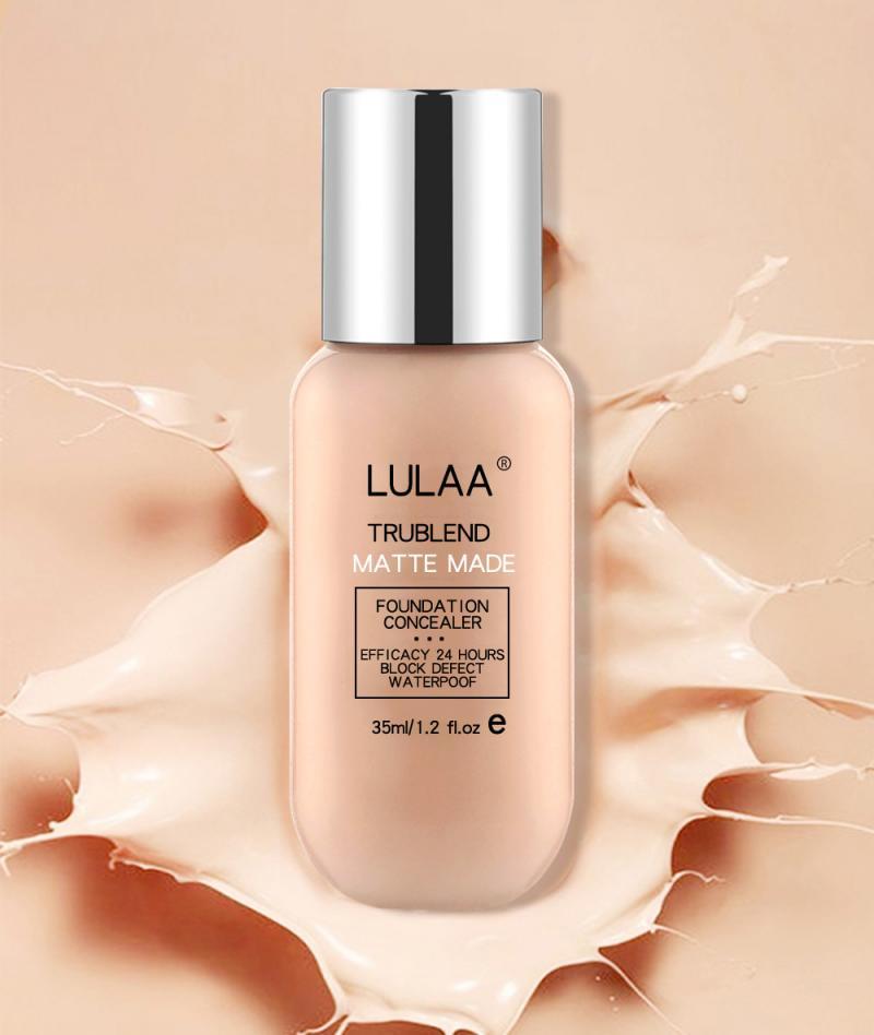 Belleza 35ml Fundación suave mate largo desgaste aceite Control base líquida correctora crema blanqueamiento duradero Primer maquillaje TSLM1