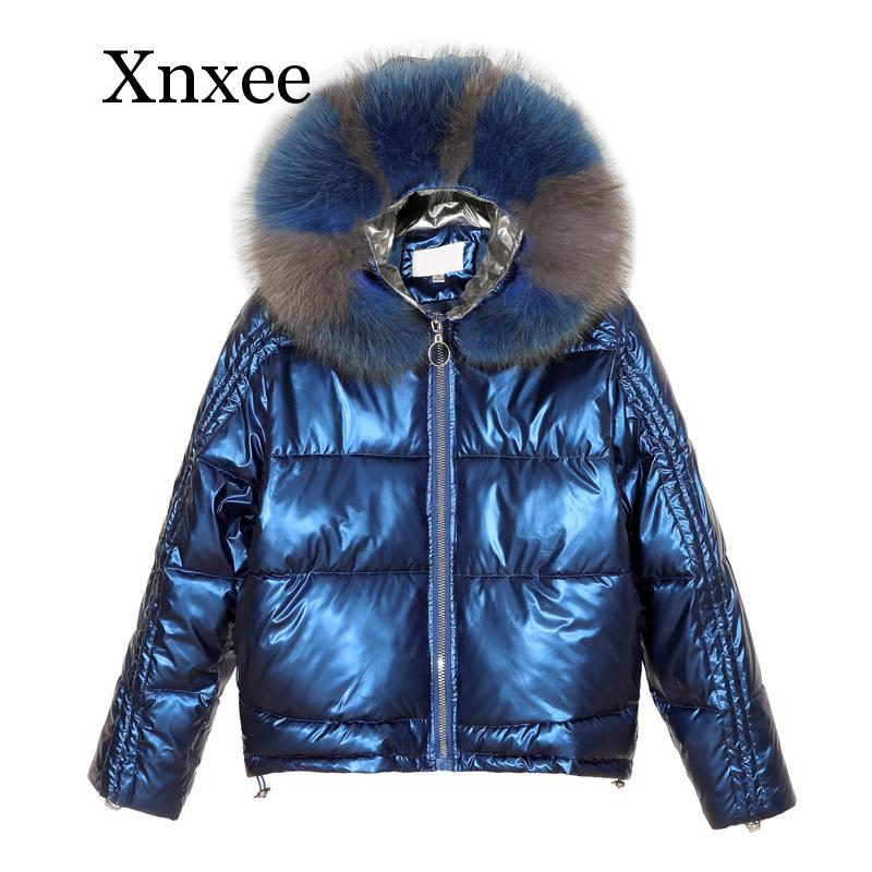 covrlge winter thick mens parka fur hooded brand 2019 new parka coat men down keep warm fashion plus asian size m 4xl 5xl mwm076 Xnxee Winter Glossy Parka Women's Waterproof Coat Fur Hooded Jacket Large Size Loose Winter Warm Thick Parka Women Jacket