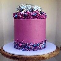 5 pcs disco ball cake decoration 70s disco cake decoration disco ball toppers saturday night fever party supplies disco ball